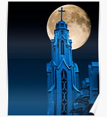 Frozen in the Midnight Blue Poster