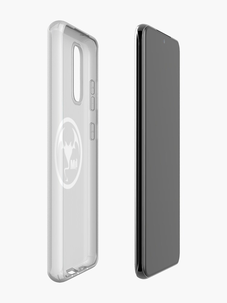 Alternate view of Hollywood Monsters Circle Bat Logo - WHITE PRINT Case & Skin for Samsung Galaxy