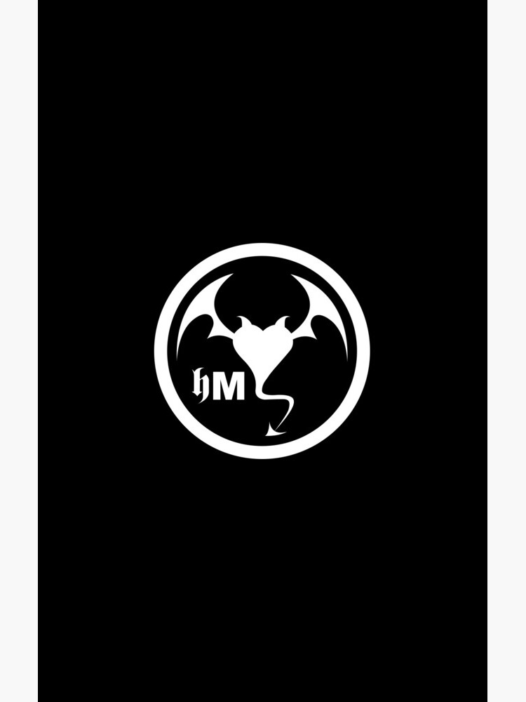 Hollywood Monsters Circle Bat Logo - WHITE PRINT by bzyrq