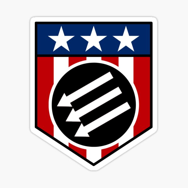 American Iron Front Shield Sticker