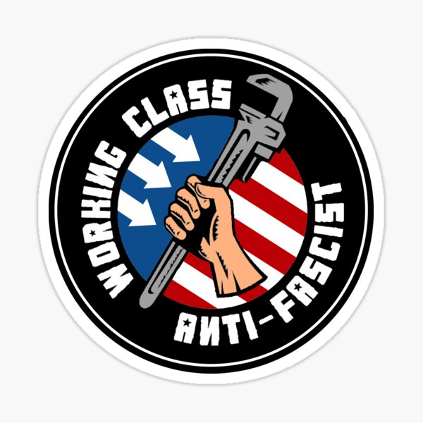 Working Class Anti-Fascist (American Version) Sticker