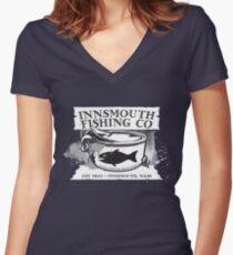 Innsmouth Fishing Co Women's Fitted V-Neck T-Shirt