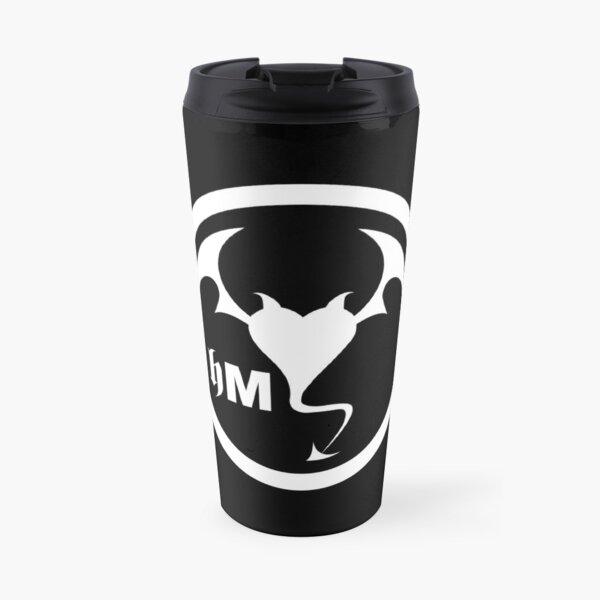 Hollywood Monsters Circle Bat Logo - WHITE PRINT Travel Mug