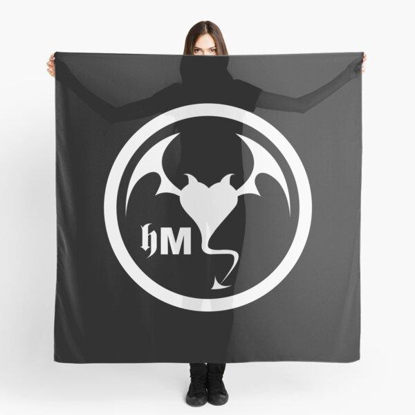 Hollywood Monsters Circle Bat Logo - WHITE PRINT Scarf