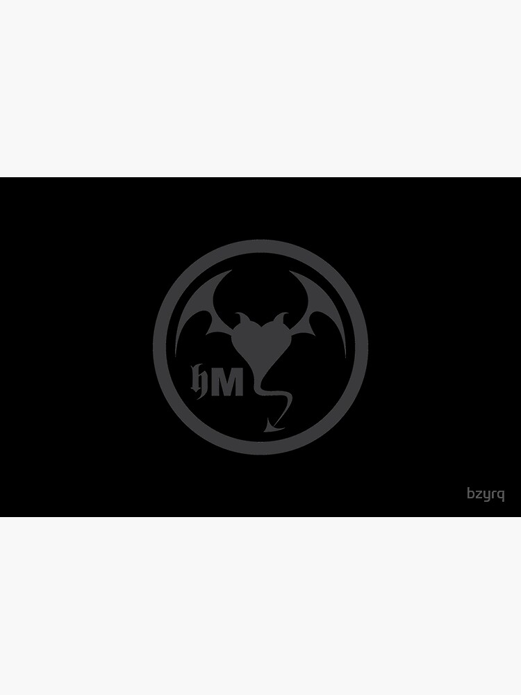 Hollywood Monsters Circle Bat Logo - DARK GREY by bzyrq