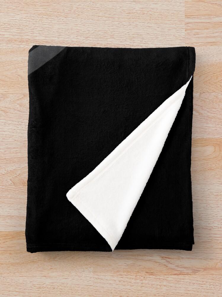 Alternate view of Hollywood Monsters Circle Bat Logo - DARK GREY Throw Blanket