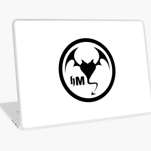Hollywood Monsters Circle Bat Logo - BLACK PRINT Laptop Skin