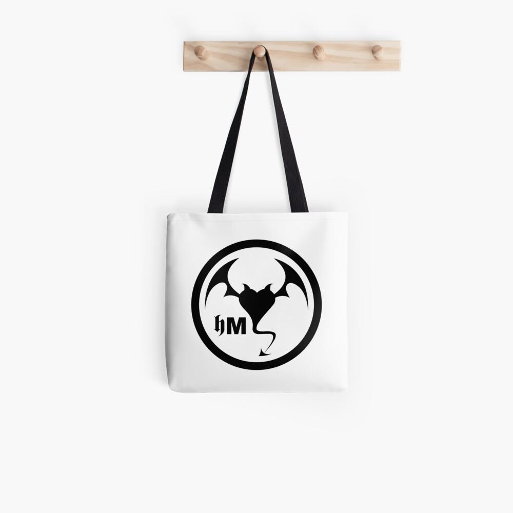 Hollywood Monsters Circle Bat Logo - BLACK PRINT Tote Bag
