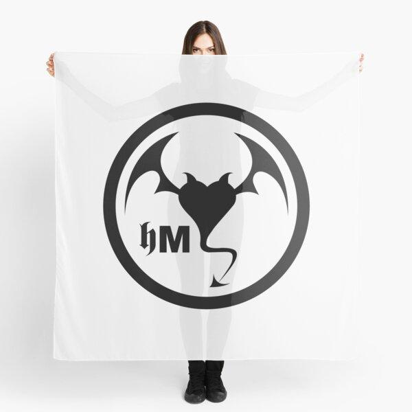 Hollywood Monsters Circle Bat Logo - BLACK PRINT Scarf