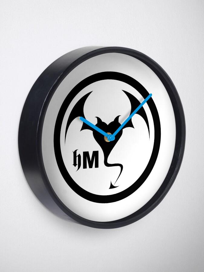 Alternate view of Hollywood Monsters Circle Bat Logo - BLACK PRINT Clock