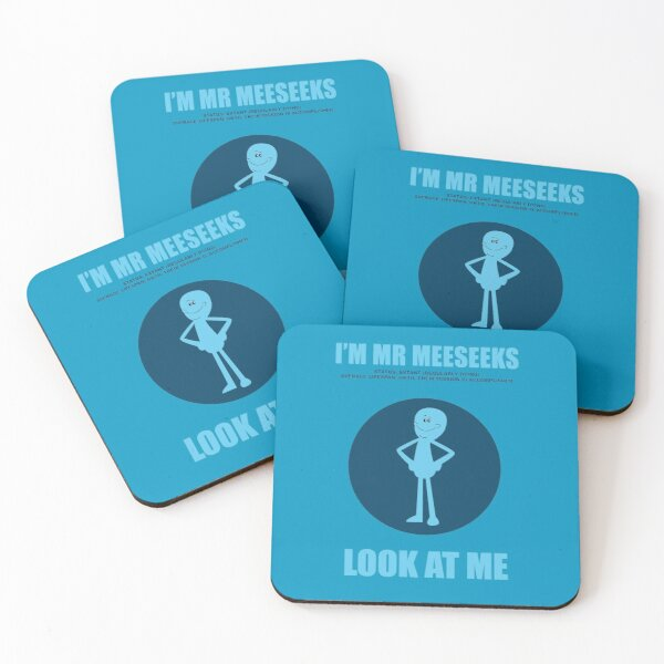 Rick and Morty - I'm Mr Meeseeks - Look at me! Coasters (Set of 4)