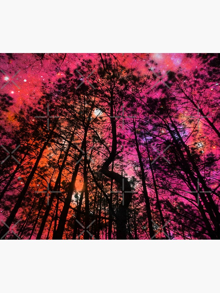 Twisted Forest Hot Pink Orange by 2sweetsDesign