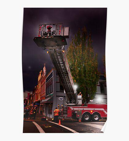 Salem Fire Truck Poster