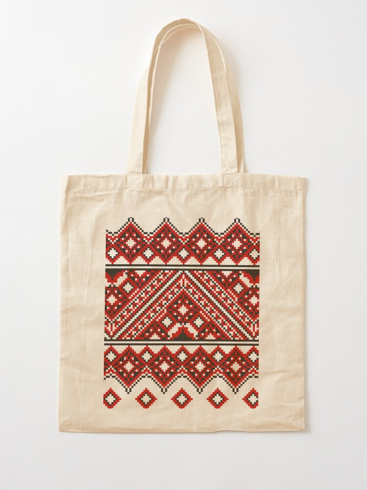 Alternate view of #Ukrainian #Embroidery, #CrossStitch, #Pattern Tote Bag