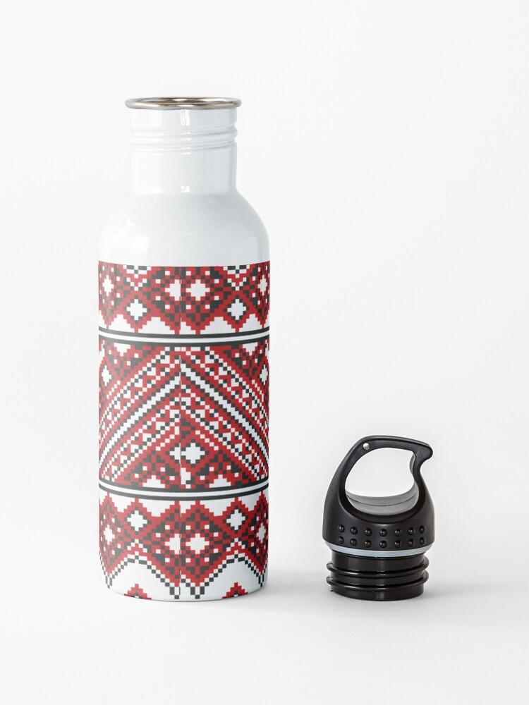 Alternate view of #Ukrainian #Embroidery, #CrossStitch, #Pattern Water Bottle
