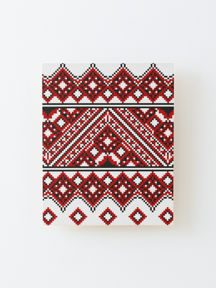 Alternate view of #Ukrainian #Embroidery, #CrossStitch, #Pattern Mounted Print