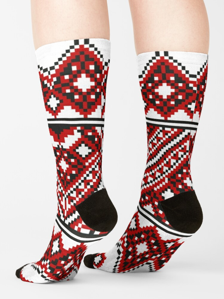 Alternate view of #Ukrainian #Embroidery, #CrossStitch, #Pattern Socks
