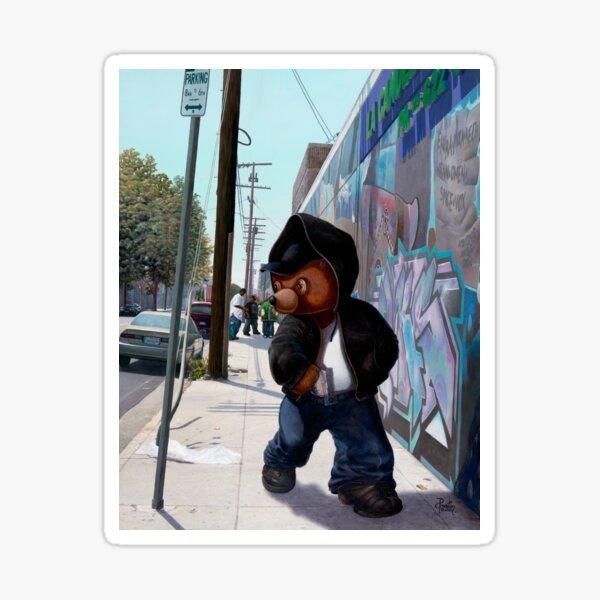 Gangsta Teddy Sticker
