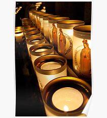 Votive Candles Notre Dame Poster