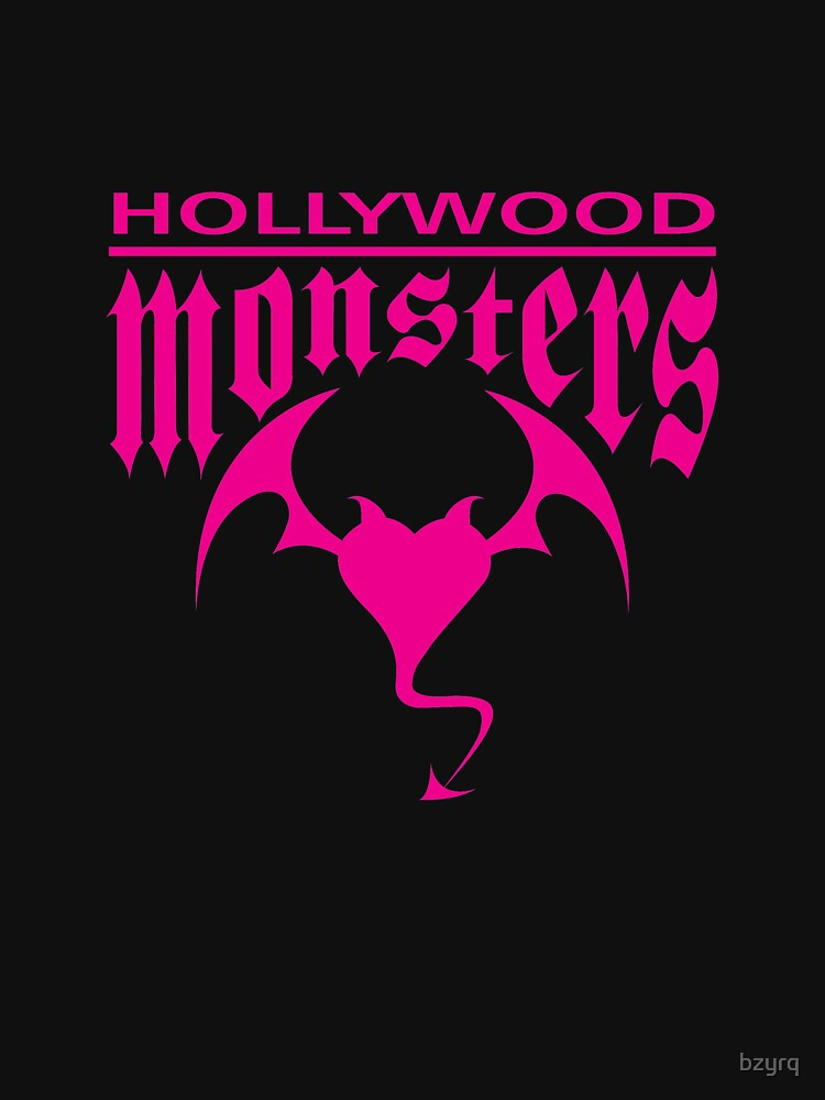 Hollywood Monsters Text Bat Logo - PINK PRINT by bzyrq