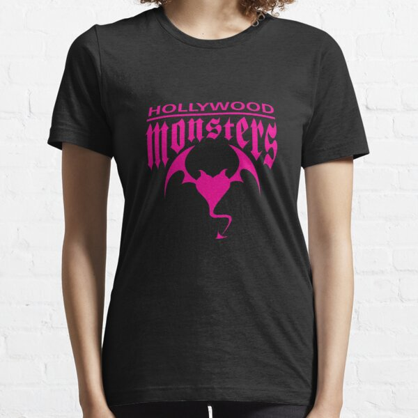Hollywood Monsters Text Bat Logo - PINK PRINT Essential T-Shirt