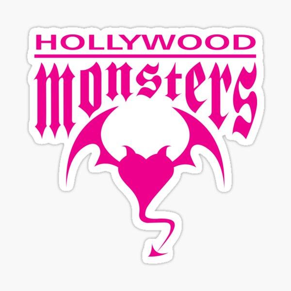 Hollywood Monsters Text Bat Logo - PINK PRINT Sticker