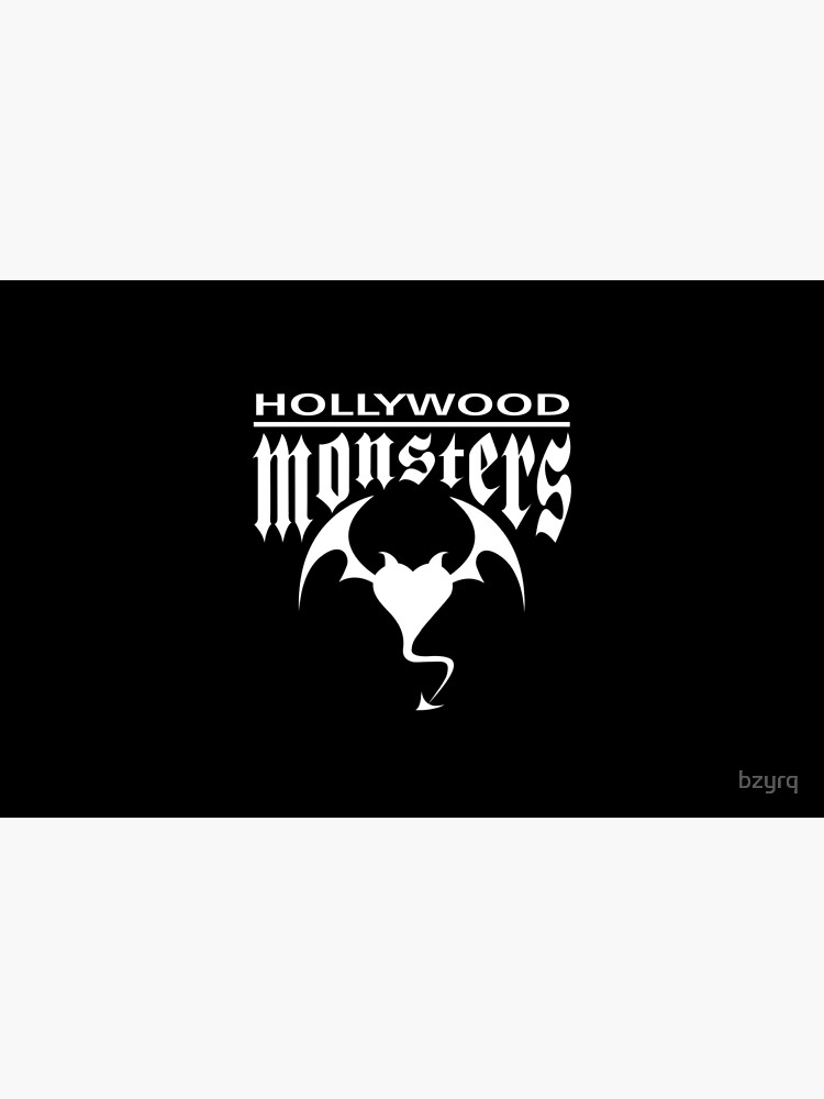 Hollywood Monsters Text Bat Logo - WHITE PRINT by bzyrq