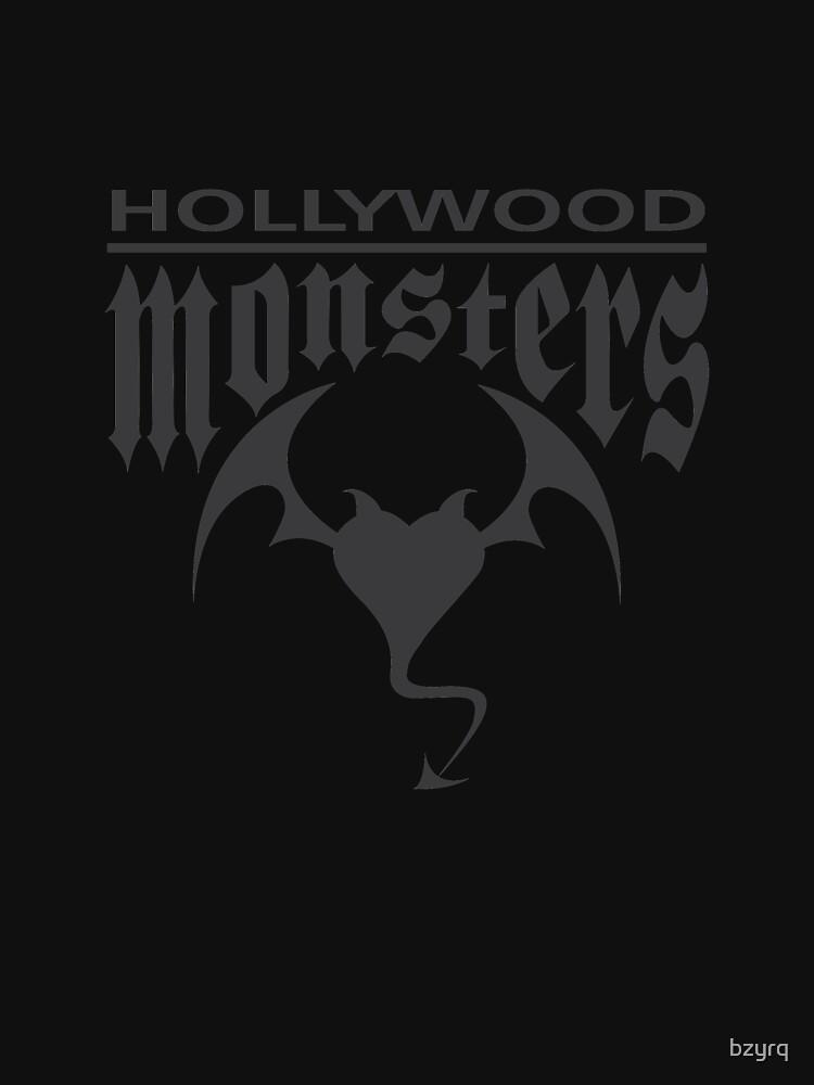 Hollywood Monsters Text Bat Logo - DARK GREY by bzyrq