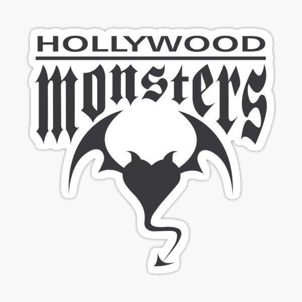 Hollywood Monsters Text Bat Logo - DARK GREY Sticker