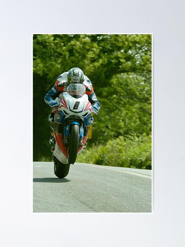 Alternate view of John McGuinness Isle of Man TT 2011 Poster