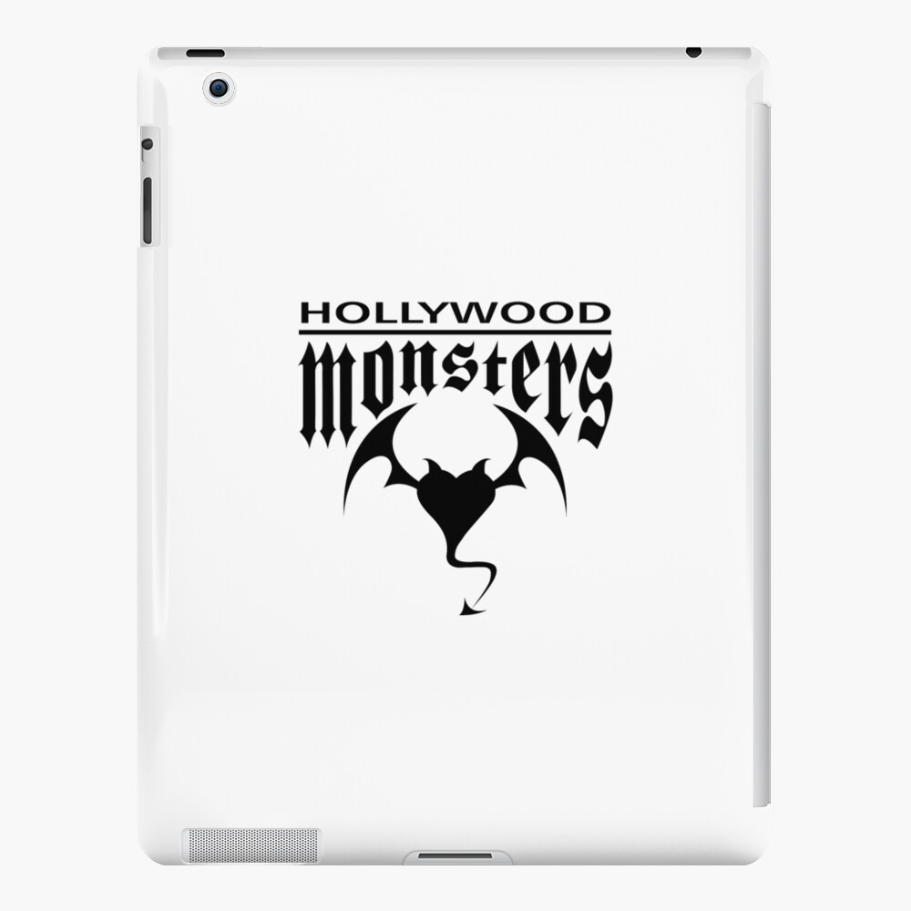 Hollywood Monsters Text Bat Logo - BLACK PRINT iPad Case & Skin