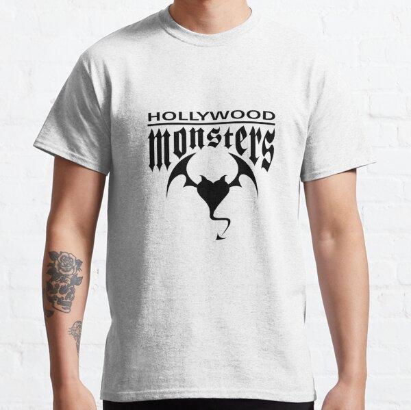 Hollywood Monsters Text Bat Logo - BLACK PRINT Classic T-Shirt