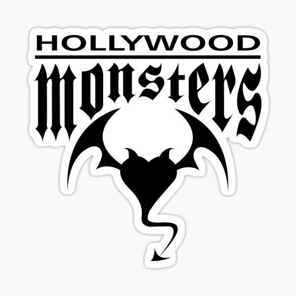 Hollywood Monsters Text Bat Logo - BLACK PRINT Sticker