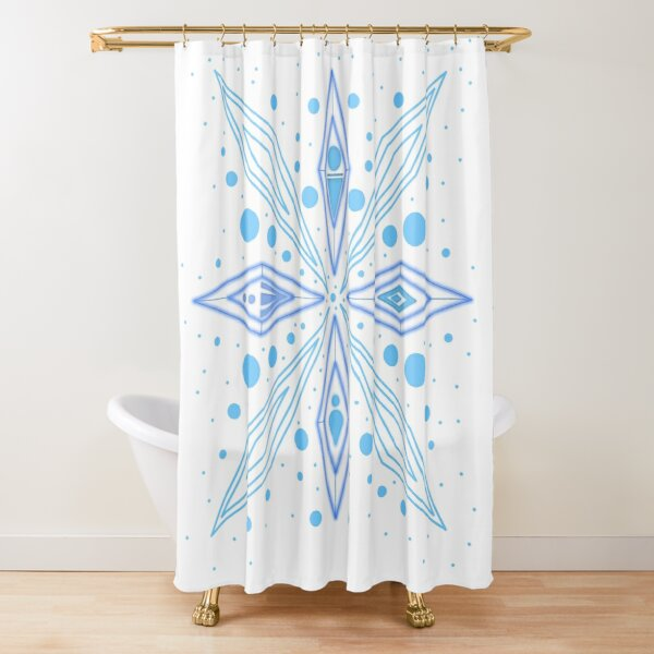 Snowflake Elements Shower Curtain