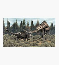 Ankylosaurus vs Acrocanthosaurus Photographic Print