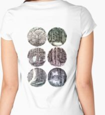 Forest in oval Women's Fitted Scoop T-Shirt