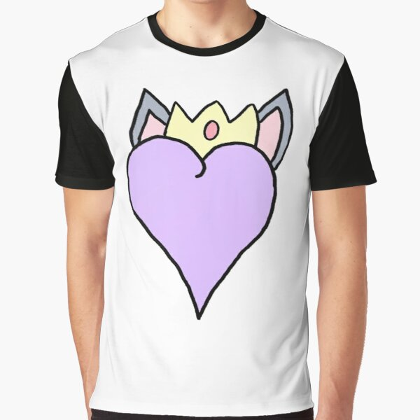 heart with cat ears and crown Graphic T-Shirt