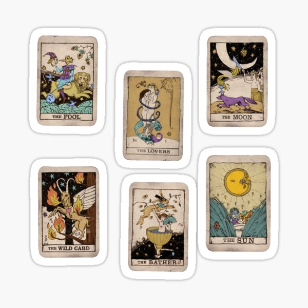 Tarot card pack Sticker