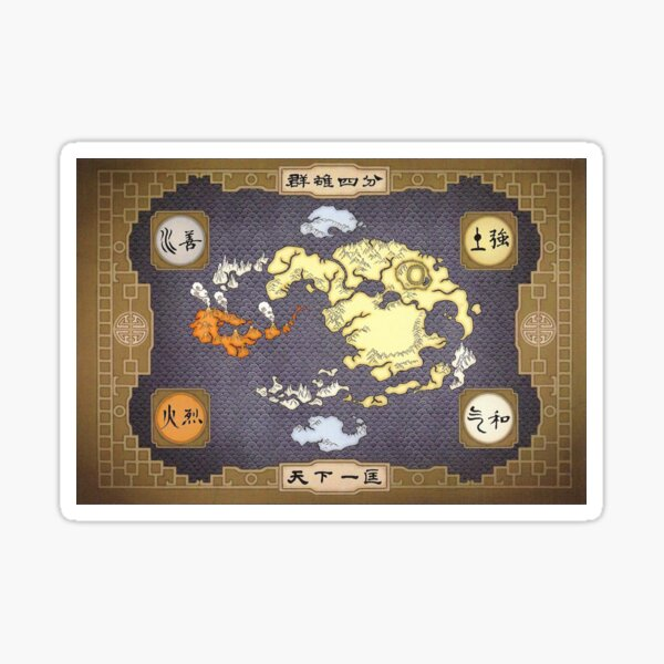 Avatar the Last Airbender Map Sticker