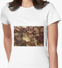leaf background Womens Fitted T-Shirt