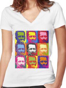 Weiner Warhol Women's Fitted V-Neck T-Shirt