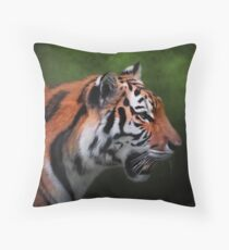 A Leader - Siberian Tiger Art Throw Pillow