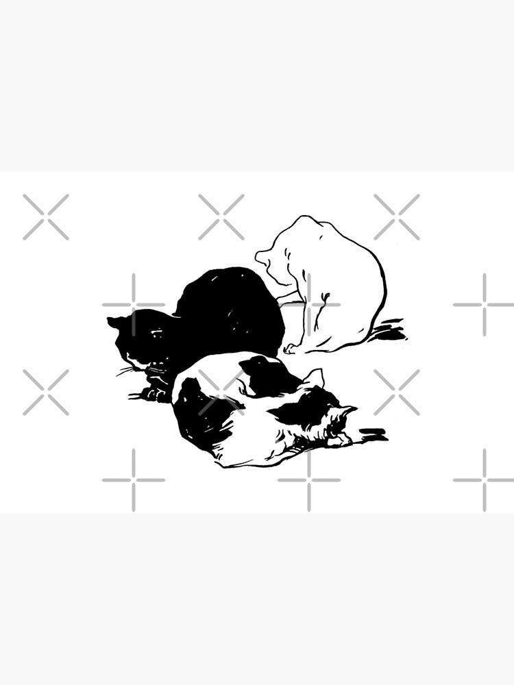 Sleepy Cats Art Nouveau Illustration by backtoblackttt