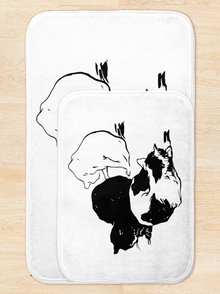 Alternate view of Sleepy Cats Art Nouveau Illustration Bath Mat