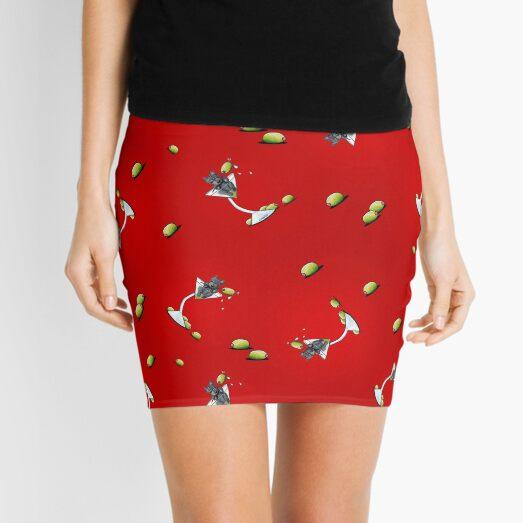 KiniArt Scottish Martini On Red Mini Skirt