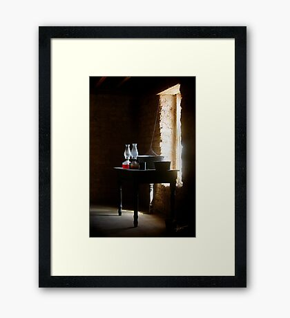 Standing in the Shadow of Time Framed Print
