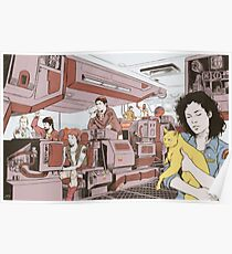 Aboard the Nostromo Poster