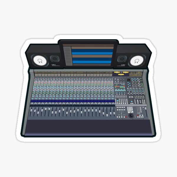 Audio Mixing Console Rig Sticker