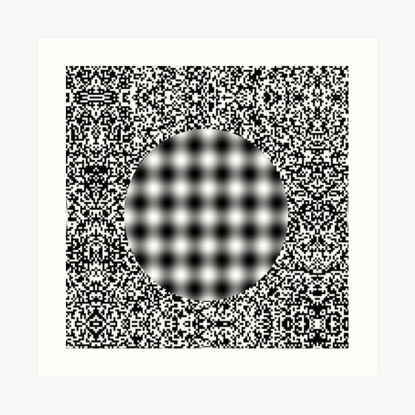 Optical illusion in Physics Art Print