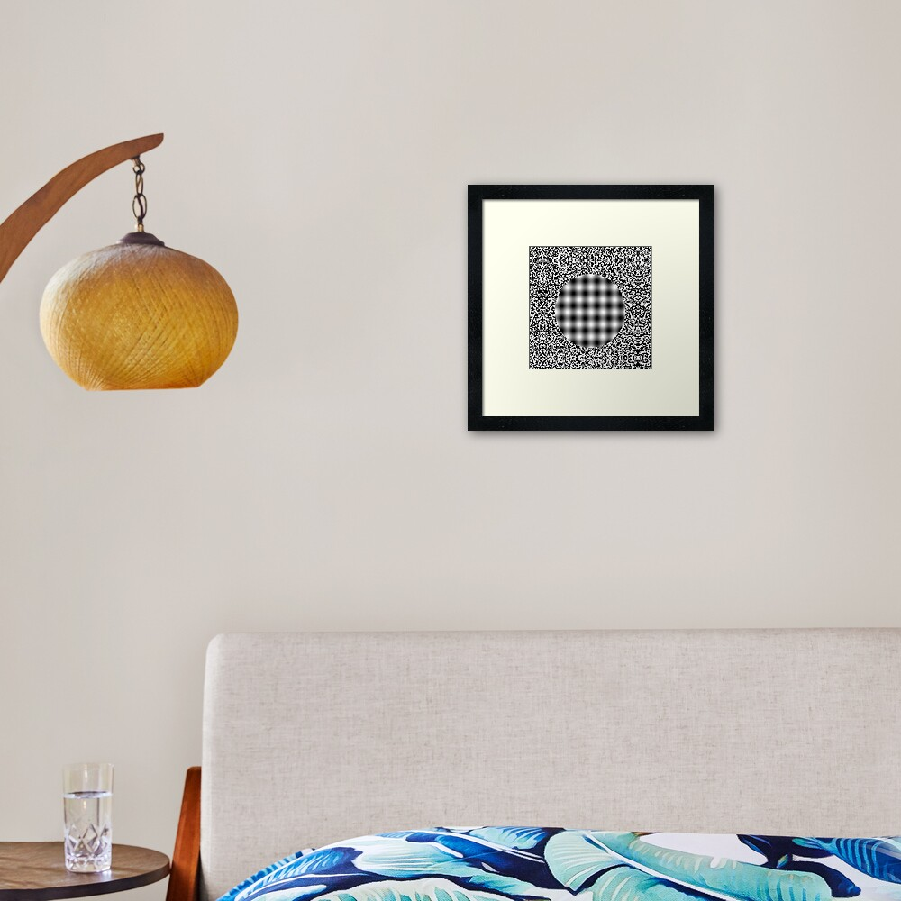 Optical illusion in Physics: Framed Art Print
